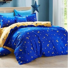China dark blue moon bedsheet.index