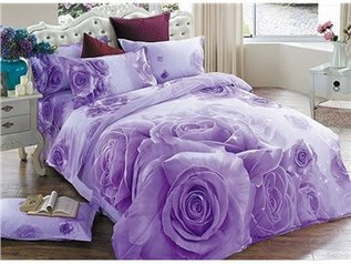 China flowery purple bedsheet.index