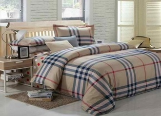 China dark burberry bedsheet.index