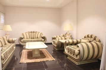 buy Versailles 8 seater chairs with 2 side tables and a coffee table