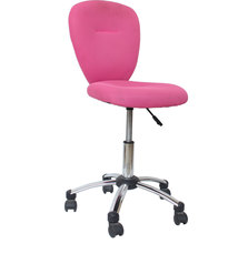 buy Pink Linen Armless Office Chair