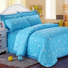 China sky blue moon bedsheet.index