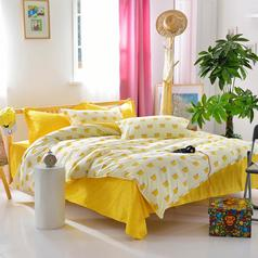 China yellow   white crown bedsheet.index