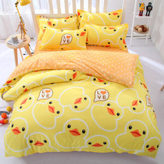 China yellow duck octopus bedsheet.index