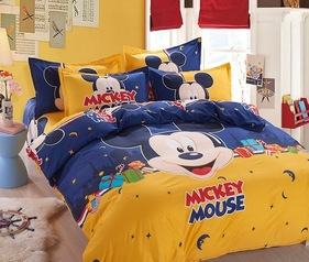 Egyptian blue mickey mouse bedsheet.index