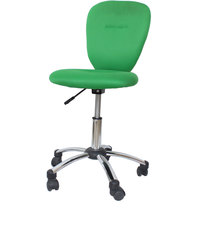 buy Green Linen Armless Office Chair