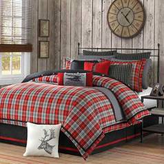 Egyptian red check bedsheet.index