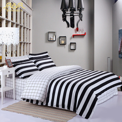 Egyptian strip black   white bedsheet.index