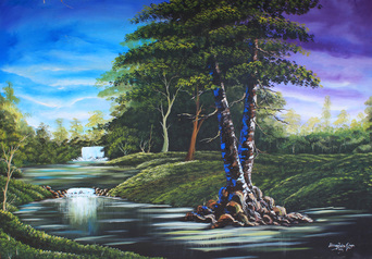 buy Mountain Water Fall 3 x 5 Feet