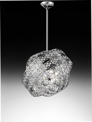 buy Chrome Voltolina Galaxy Pendant Light