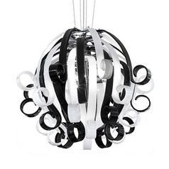 buy White & Black Voltolina Medusa 4 Pendant Light