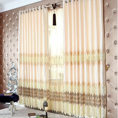 No. 2             stylish polyester and silk floral geometrical window curtains with embroidery two 10k.index