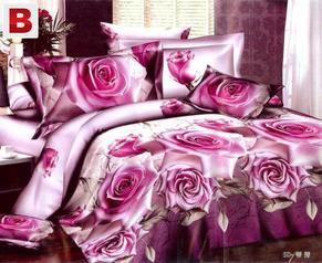 Egyptian  purples rose flower 3d printing duvet cover  %282%29.index