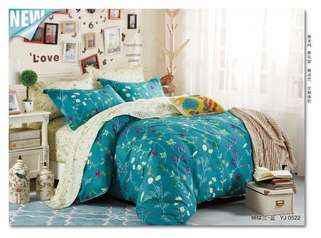 Egyptian blue flowery bedsheet.index