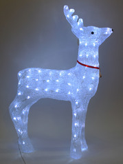 Christmas decorative crystal raindeer with light.index