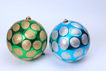 Christmas design balls green blue.index