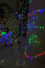 White decor tree with multi color light.index