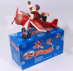 Flying santa christmas decoration.index
