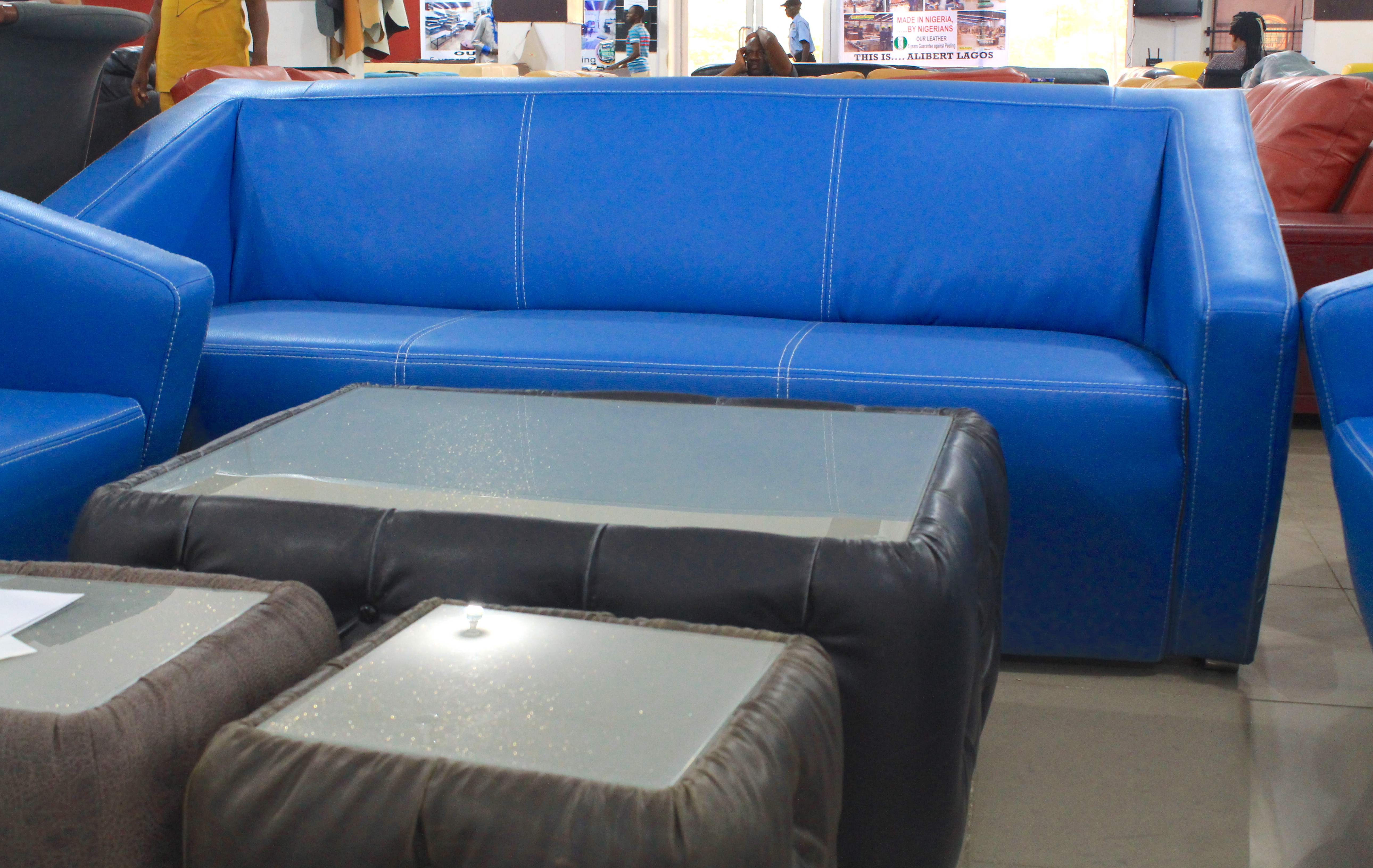 leather blue gallery with sofa mixing chair furniture couch beautiful navy polish