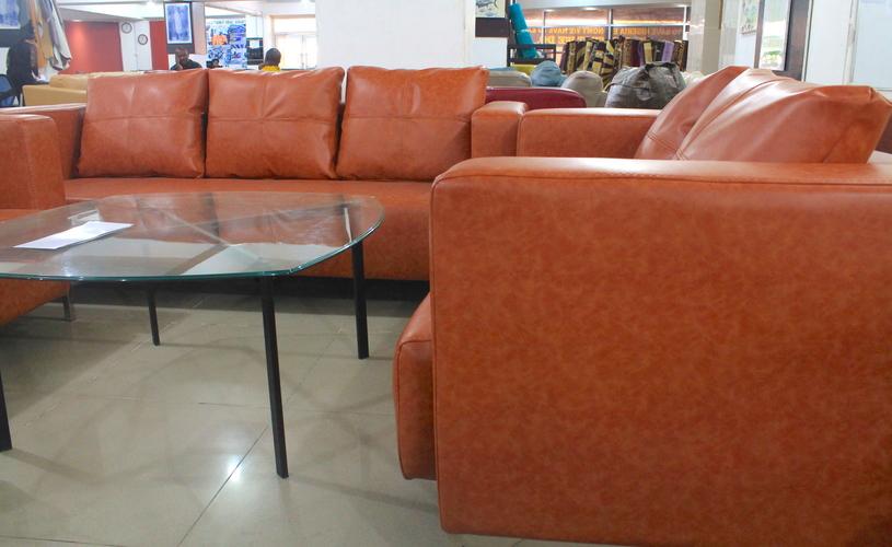 1 Orange Leather Sofa Set 7 Seater Homewox Nigeria Abuja Lagos  Portharcourt.main