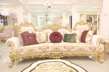 buy Grand 8 Seater Emerald Sofa Set