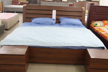 buy Coffee Brown upholstered Alibert Bed