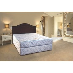 Divan bed base wooden headboard.index
