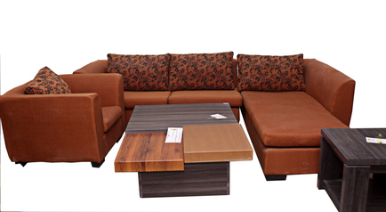 buy Fabric Riva 5 Seater lounge Suite with single arm chair