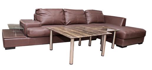 buy Genoa 5 Seater Leather modular lounge
