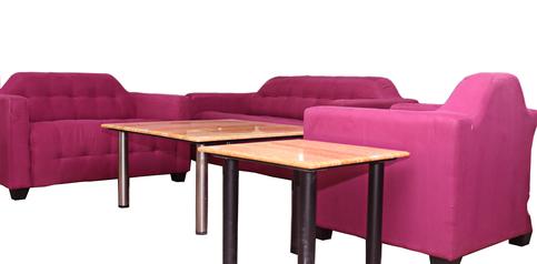 buy Fabric Alvin 6 Seater Sofa Set