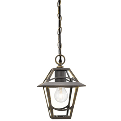buy BABYLON Lantern Pendant Light BlackBrush - 15426/42/10