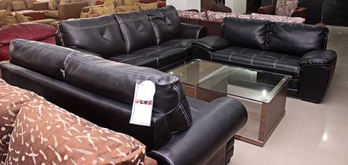 Tej 7 Seater Leather Sofa Set
