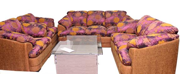 buy Fabric Tara 7 Seater Sofa Set