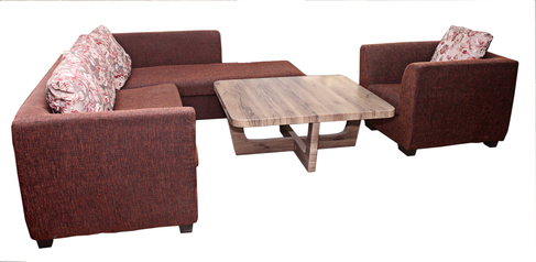 buy Fabric Riva 5 Seater Lounge Suite with a single arm chair