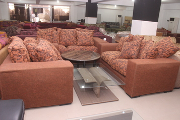 buy Fabric Diana 7 seater Sofa Set