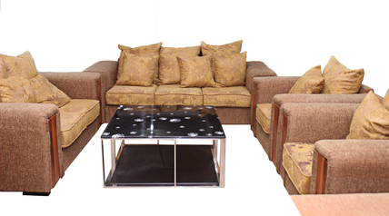 buy Fabric Queen Stylish 7 Seater Sofa Set