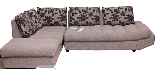 buy Fabric Vania 6 Seater Modular Lounge with a Single arm chair