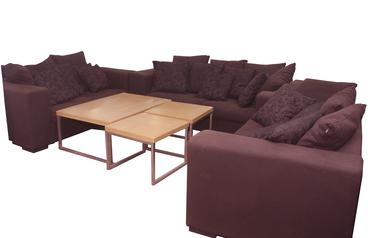 buy Fabric Daina 7 Seater Dark Blue Sofa Set