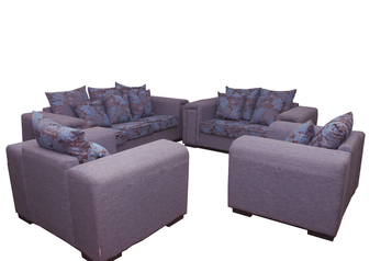 buy Fabric Queen Sky Blue 7 Seater Sofa Set