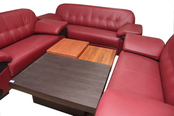 buy Leather Nostra 7 Seater Sofa Set