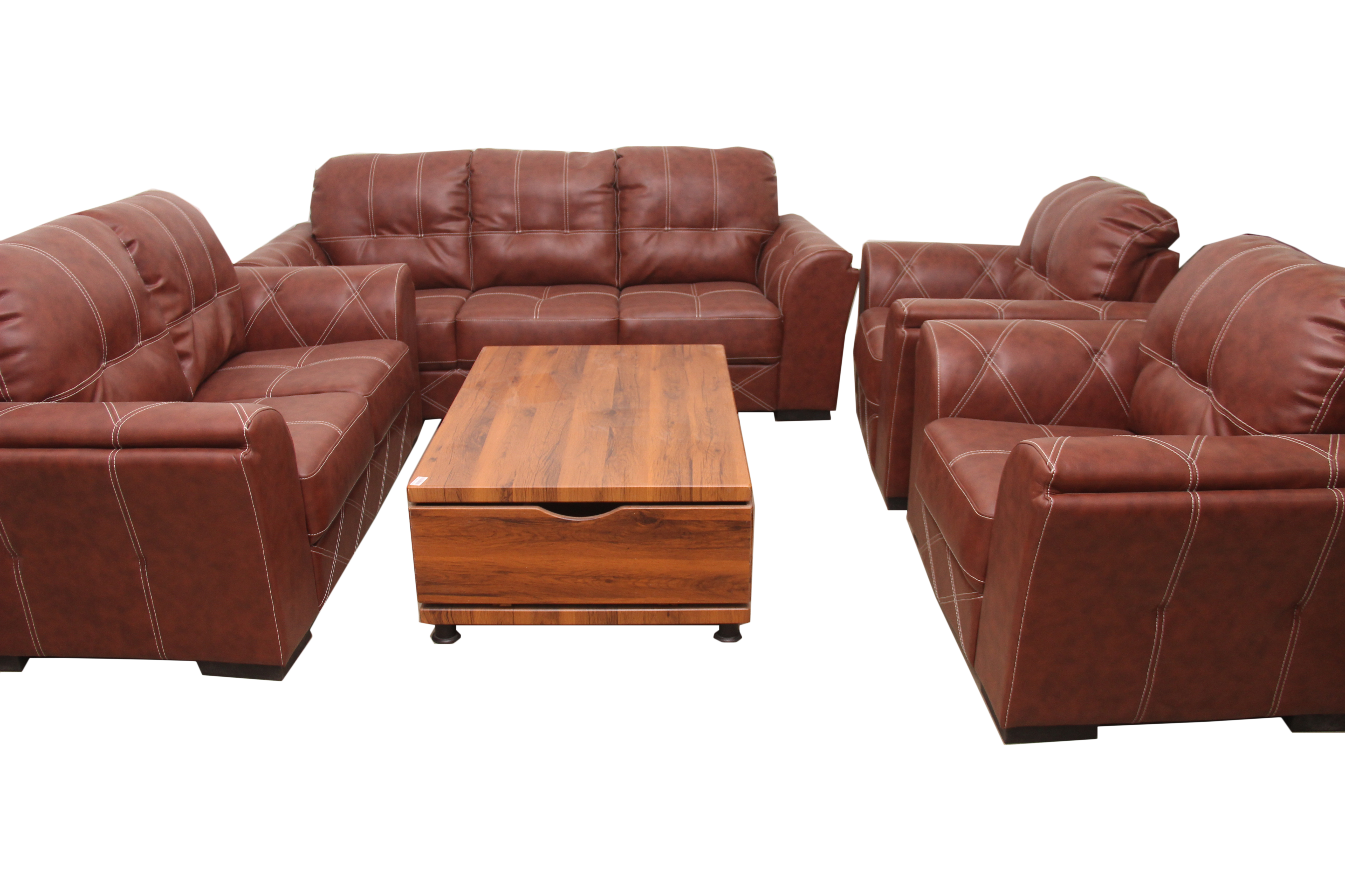 Gloria Brown 7 Seater Leather Sofa Set On Homewox Ng